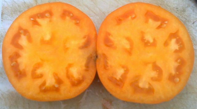 Оранжевый в разрезе